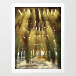 Cathedral Beneath the Docks Art Print