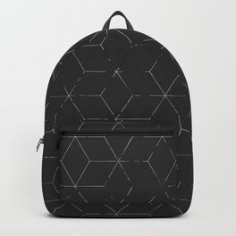 Faded Black and White Cubed Abstract Backpack