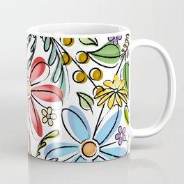 Colorful Spring Garden // Flowers, Ferns, Berries Coffee Mug