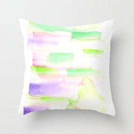 170527 Back to Basic Pastel Watercolour 29 |Modern Watercolor Art | Abstract Watercolors Throw Pillow
