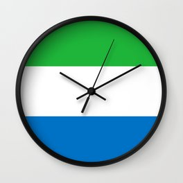 Sierra Leone Flag Wall Clock