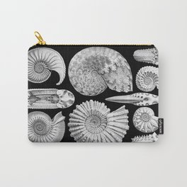 Sea Shells and Fossils (Ammonitida) by Ernst Haeckel Carry-All Pouch