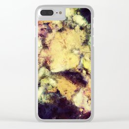 Crumbling sky Clear iPhone Case
