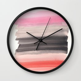 Pink and Black Wall Clock