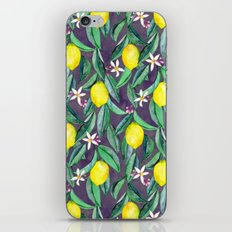 When Life Gives You Lemons - grey purple iPhone Skin