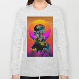 Android with a movie camera Long Sleeve T-shirt