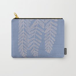 You Can't Kill Me Plants Blue and Cream Carry-All Pouch