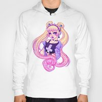 pastel goth Hoodies featuring Pastel Goth Usagi (Glasses OFF) by Gunkiss