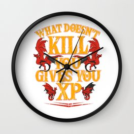 Roleplay DND RPG Gamer Dungeon Master Gift Wall Clock