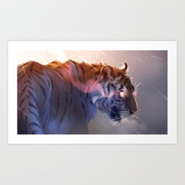 Fire Red Art Print