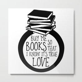 Bookish Engagment Metal Print