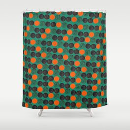 Dots and swirls Shower Curtain
