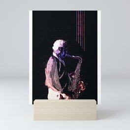 Saxophone Music Mini Art Print