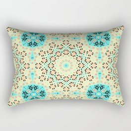 Colorful yellow turquoise ornament . Rectangular Pillow