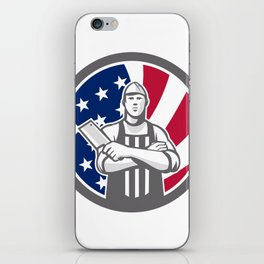 American Butcher Front USA Flag Icon iPhone Skin