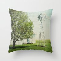 american beauty Throw Pillows featuring American Beauty Vol 19 by Farmhouse Chic