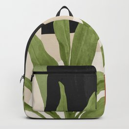 Abstract Art Tropical Leaf 11 Backpack