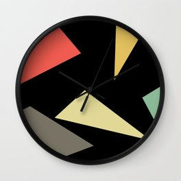 Vintage Poly Art Wall Clock