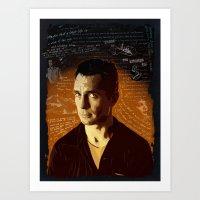 kerouac Art Prints featuring Kerouac by Pete Lloyd