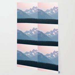 Pink Cascades - Mountain Nature Landscape Photography Wallpaper