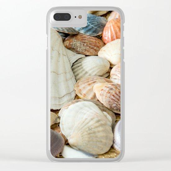 Sea Shells  -  Ocean, Sea, Nature Clear iPhone Case