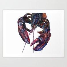 Maine Lobster Art - Watercolor Print Art Print