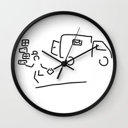 package messenger cure post package service Wall Clock