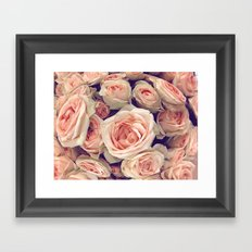 Pink Roses In A Bubble Framed Art Print