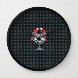 parrots on the cup of glass Wall Clock