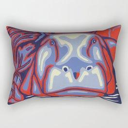 Hippo for Hope Rectangular Pillow