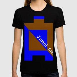 Ninja Square Blue and Brown T-shirt