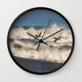 Between The Waves Wall Clock