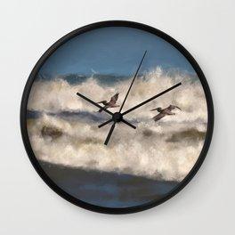 Between The Waves Wall Clock