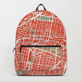 Mexico city map classic Backpack