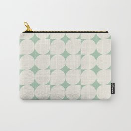 Green 70s Irregular Geometric Shapes Retro Pattern  Carry-All Pouch