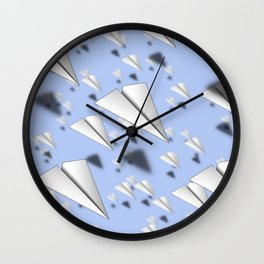 Paper Airplane 12 Wall Clock