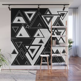 Triangle black and white Wall Mural