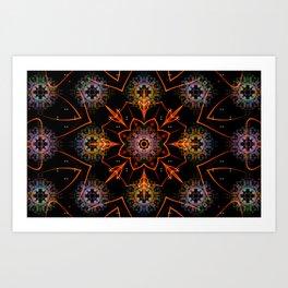 Floral Fractals Art Print
