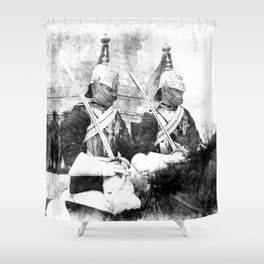 Household Cavalry Changing Of The Guard Vintage Shower Curtain