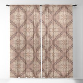 Copper Diamond Pattern Sheer Curtain