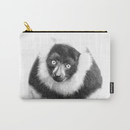 Black and white lemur animal portrait Carry-All Pouch