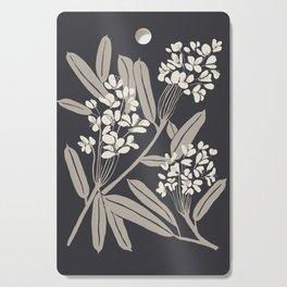 Boho Botanica Black Cutting Board