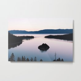 Purple Emerald Bay Metal Print