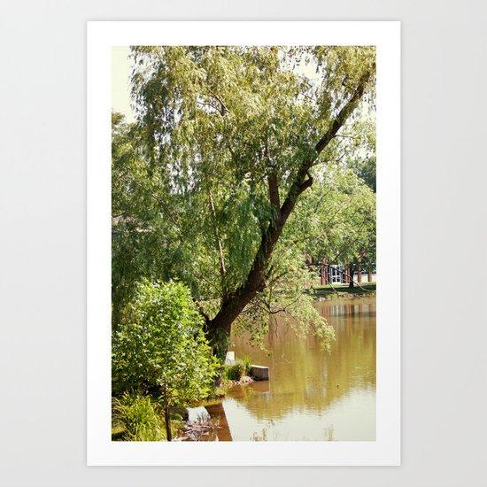 Living on the swamp Art Print