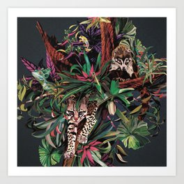Rainforest corner Art Print