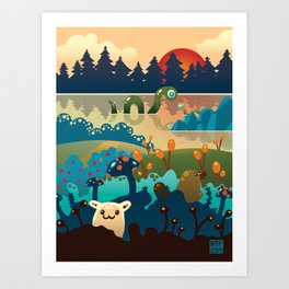 Eventide at Animalculia Art Print