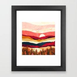 Scarlet Spring Framed Art Print