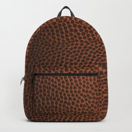 Football / Basketball Leather Texture Skin Backpack