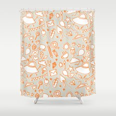 extra doodles Shower Curtain