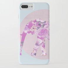 Floral Elephant and circle pastel blue pink colors iPhone 7 Plus Slim Case